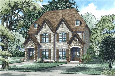 2-Bedroom, 1523 Sq Ft Multi-Unit House Plan - 153-2034 - Front Exterior