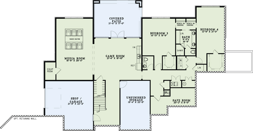 European house plan 153 2035 4 bedrm 6096 sq ft home theplancollection - House plans one story with basement collection ...