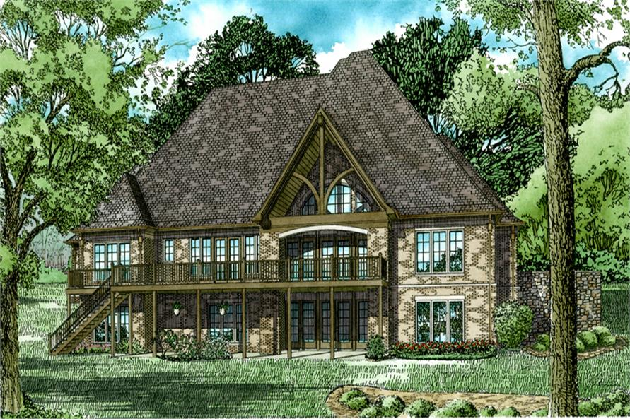 153-2035: Home Plan Rear Elevation