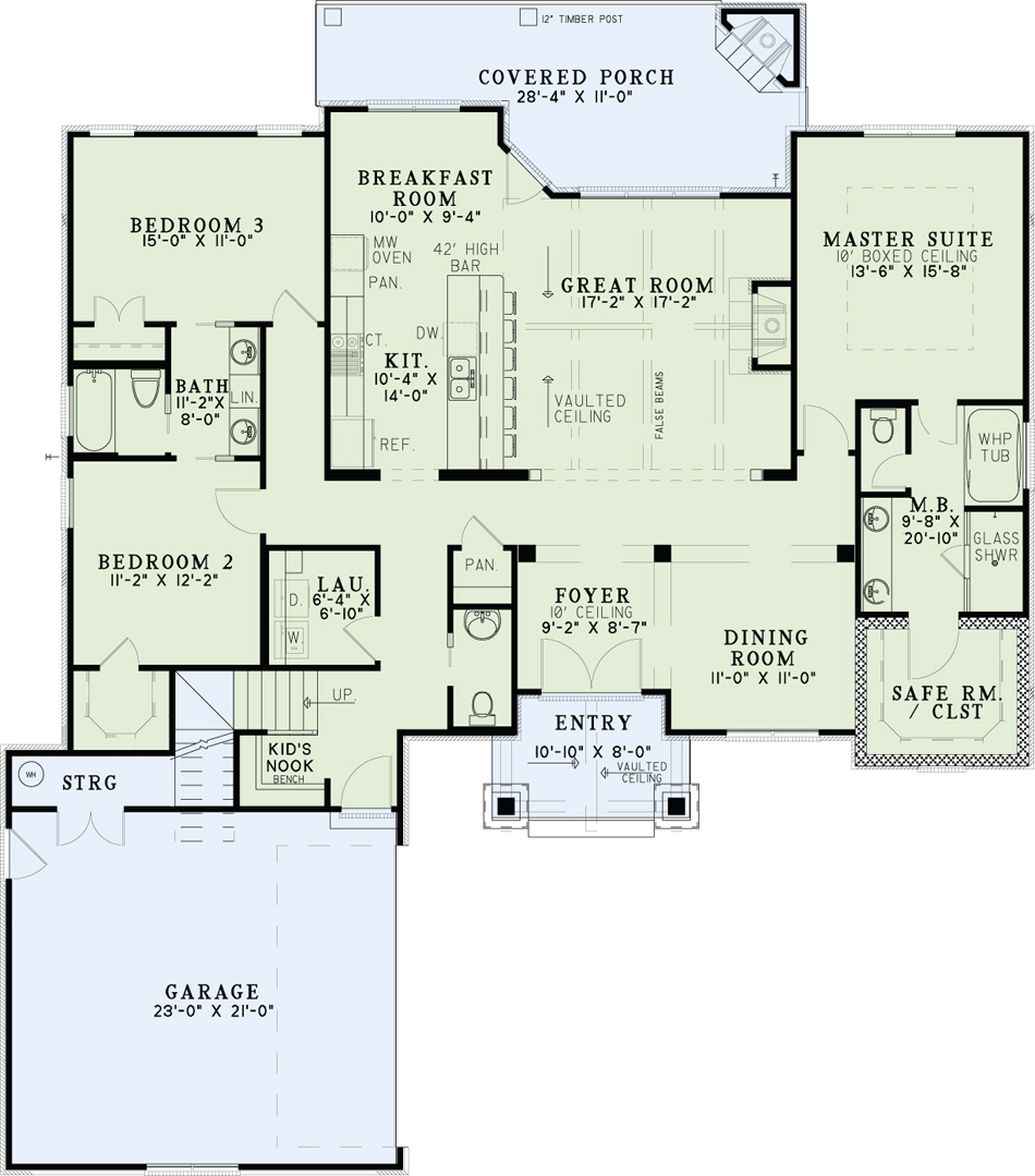 Arts And Crafts House Plan 153 2036 3 Bedrm 2091 Sq Ft