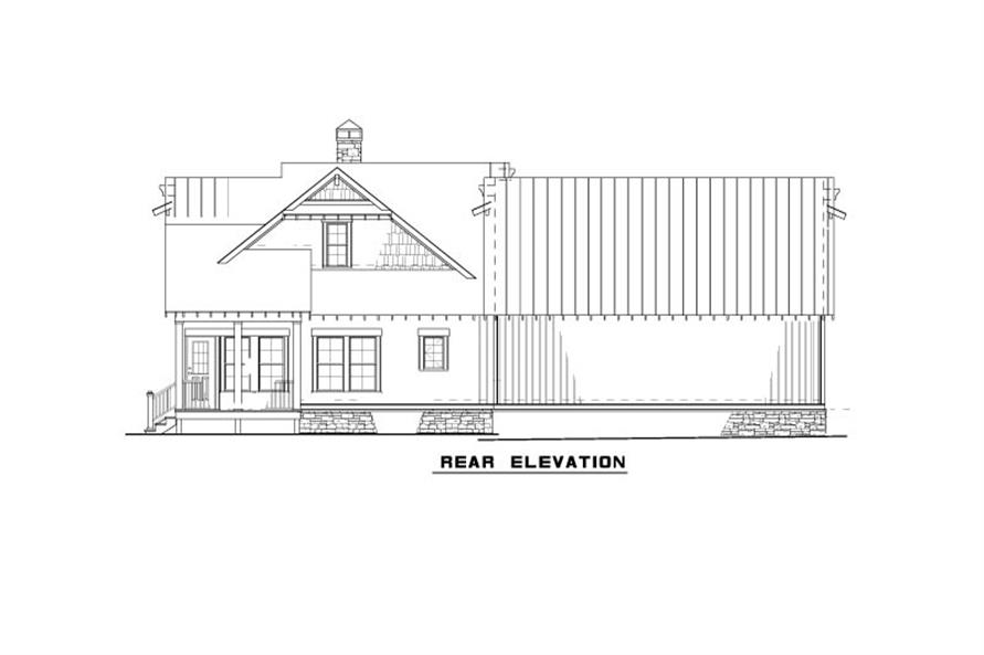 Home Plan Rear Elevation of this 3-Bedroom,1621 Sq Ft Plan -153-2039