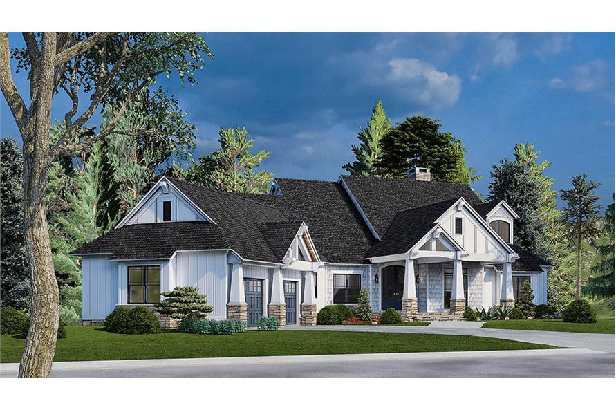 Left View of this 5-Bedroom,4736 Sq Ft Plan -153-2040