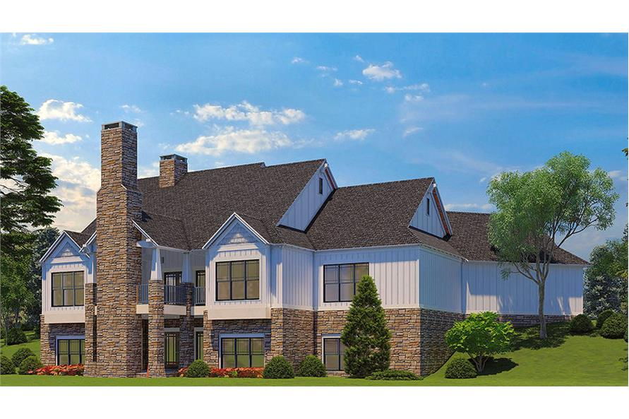 Rear View of this 5-Bedroom,4736 Sq Ft Plan -153-2040
