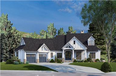 5-Bedroom, 4736 Sq Ft Luxury Home - Plan #153-2040 - Main Exterior