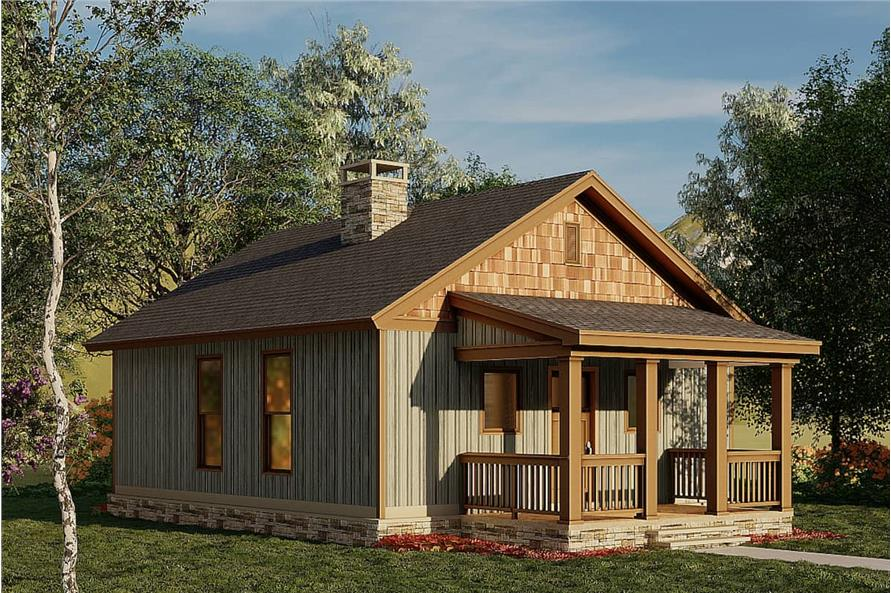 Left View of this 2-Bedroom,691 Sq Ft Plan -153-2041