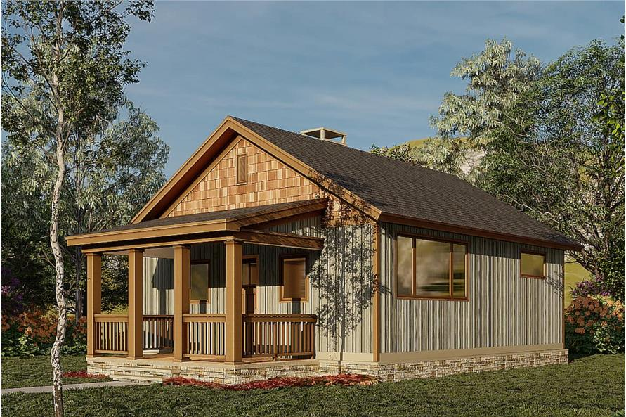 Right View of this 2-Bedroom,691 Sq Ft Plan -153-2041