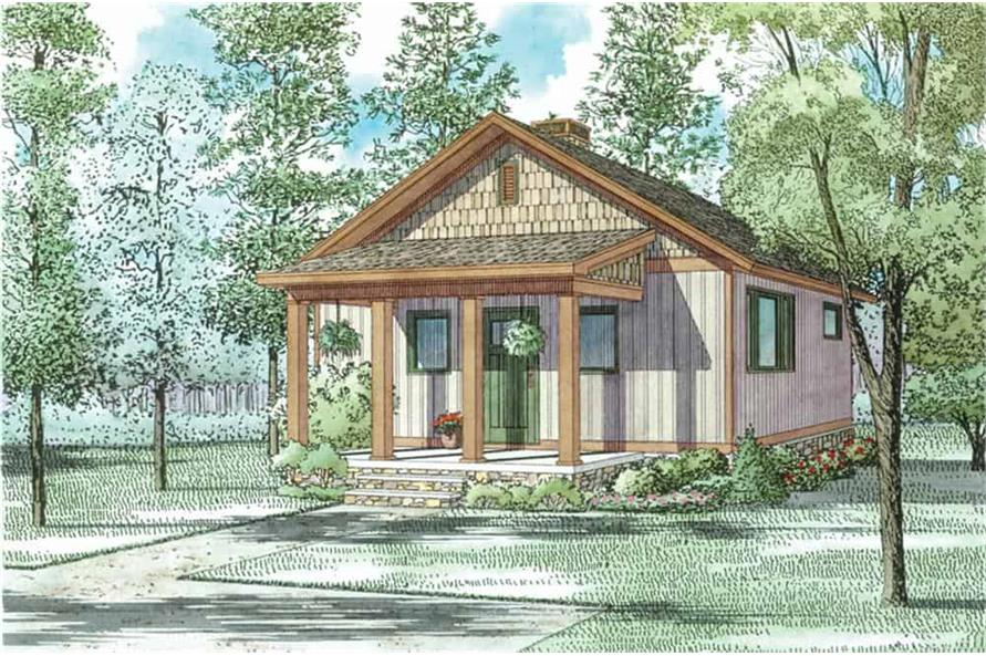 Front View of this 2-Bedroom,691 Sq Ft Plan -153-2041