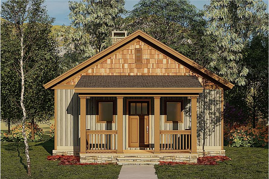 2-Bedroom, 691 Sq Ft Cottage House - Plan #153-2041 - Front Exterior
