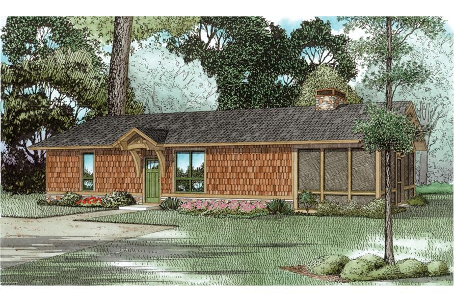 Front elevation of Country home (ThePlanCollection: House Plan #153-2043)