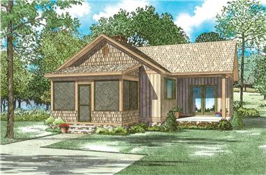 2-Bedroom, 859 Sq Ft Cottage House Plan - 153-2046 - Front Exterior