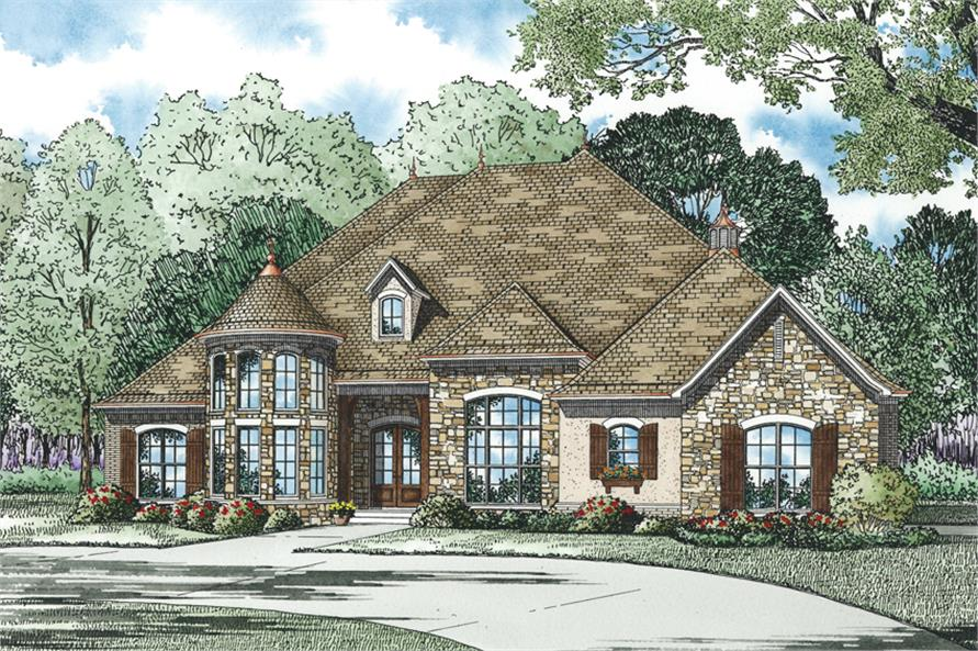 Home Plan Rendering of this 4-Bedroom,3090 Sq Ft Plan -3090
