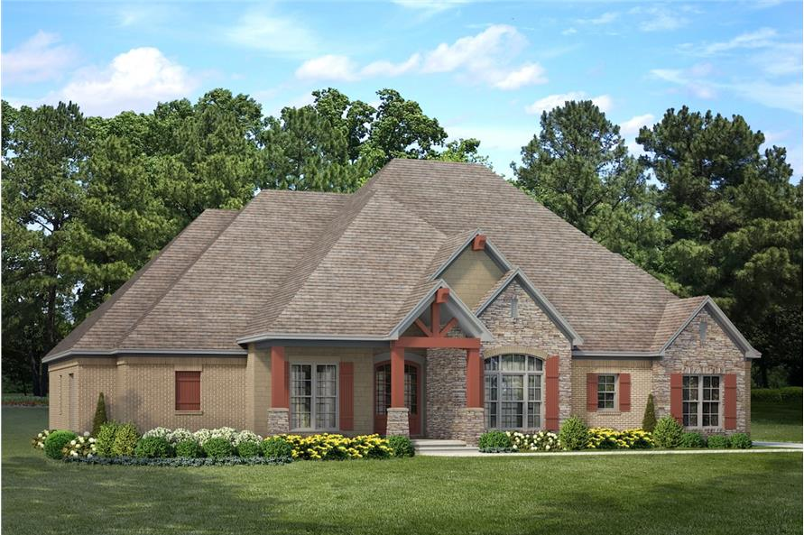 Home Plan Rendering of this 4-Bedroom,2470 Sq Ft Plan -2470