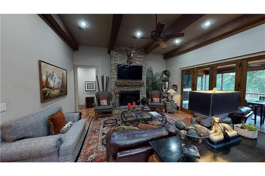 Family Room of this 4-Bedroom,2470 Sq Ft Plan -153-2050