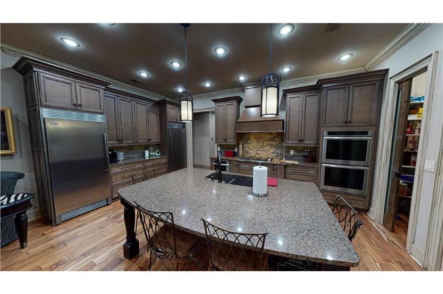 Kitchen: Kitchen Island of this 4-Bedroom,2470 Sq Ft Plan -153-2050