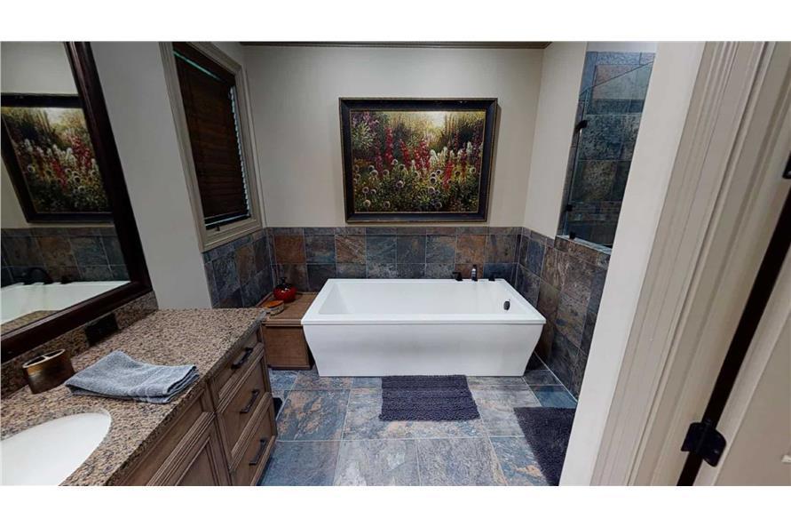 Master Bathroom: Tub of this 4-Bedroom,2470 Sq Ft Plan -153-2050