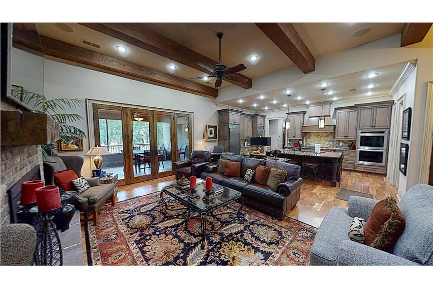 Great Room: Ceiling of this 4-Bedroom,2470 Sq Ft Plan -153-2050