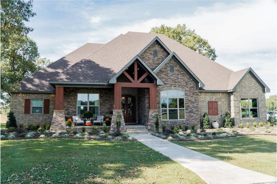 Front View of this 4-Bedroom,2470 Sq Ft Plan -2470