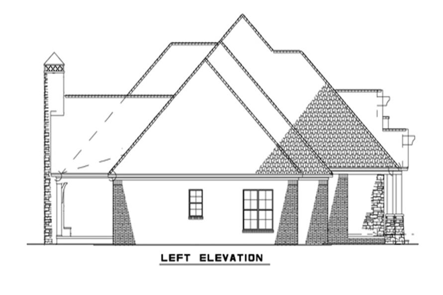 Home Plan Left Elevation of this 4-Bedroom,2470 Sq Ft Plan -153-2050