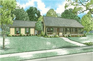 3-Bedroom, 1800 Sq Ft Country Home Plan - 153-2054 - Main Exterior