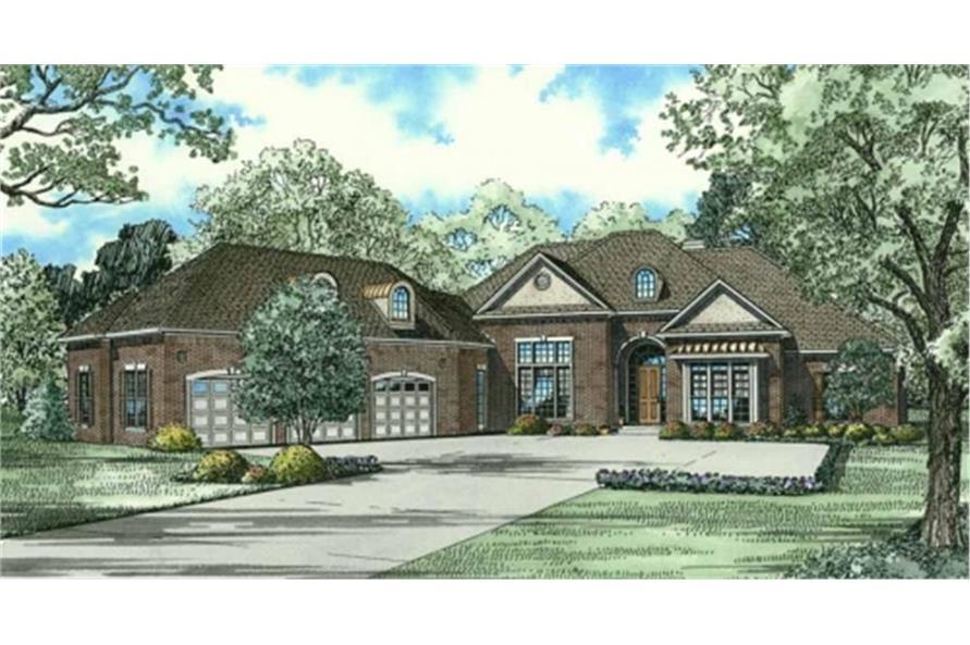 Home Plan Rendering of this 4-Bedroom,4300 Sq Ft Plan -4300