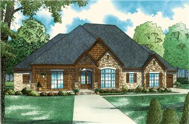 Front elevation of Country home (ThePlanCollection: House Plan #153-2064)