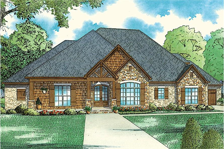 4-Bedroom, 2688 Sq Ft Country Home  - Plan #153-2064 - Main Exterior
