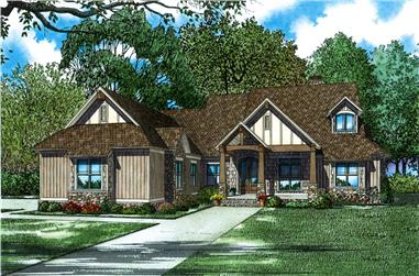 Front elevation of Country home (ThePlanCollection: House Plan #153-2066)