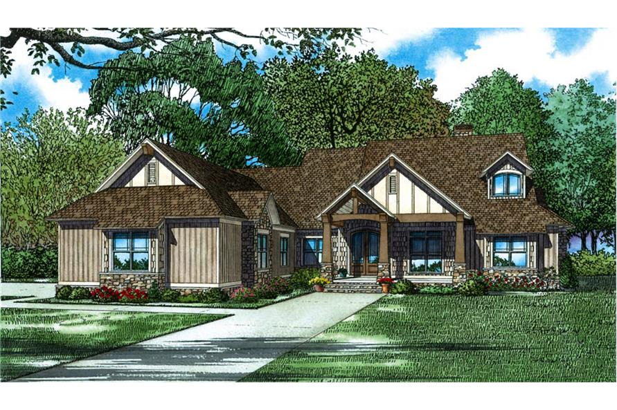 5-Bedroom, 4347 Sq Ft Country Home Plan - 153-2066 - Main Exterior