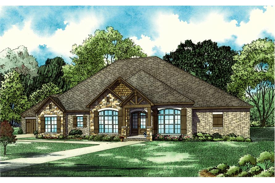 5-Bedroom, 3580 Sq Ft Southern Home Plan - 153-2067 - Main Exterior