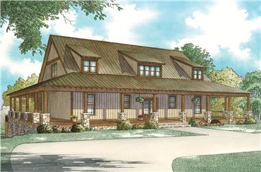 Front elevation of Coastal home (ThePlanCollection: House Plan #153-2082)