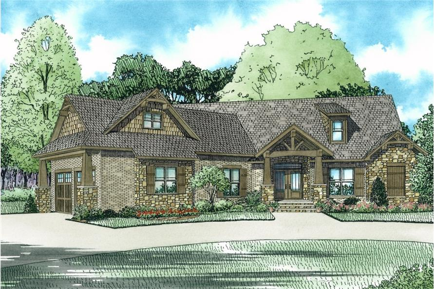 Front View of this 3-Bedroom,2199 Sq Ft Plan -2199