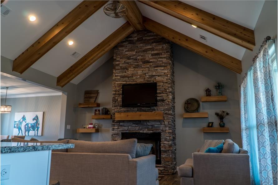 Great Room: Fireplace of this 3-Bedroom,2199 Sq Ft Plan -2199
