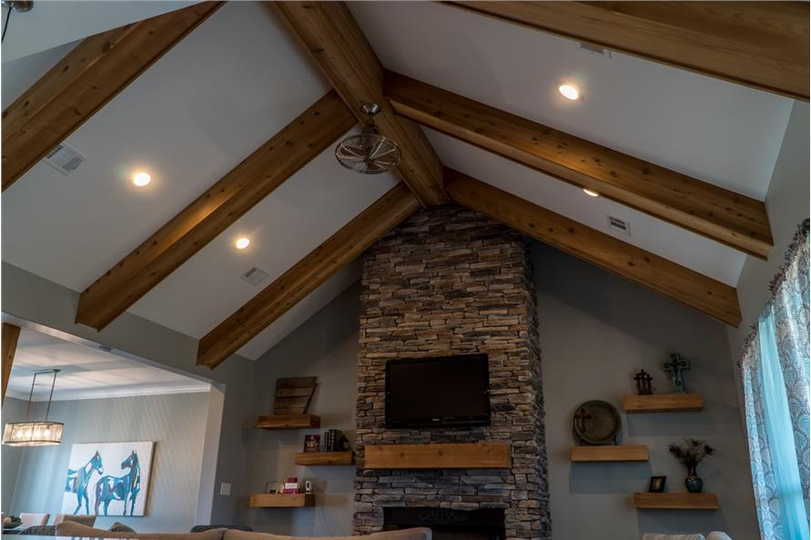 Great Room: Ceiling of this 3-Bedroom,2199 Sq Ft Plan -2199