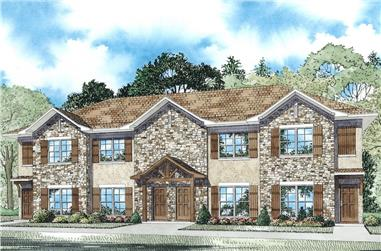 2-Bedroom, 1040 Sq Ft European House Plan - 153-2086 - Front Exterior