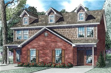 3-Bedroom, 1500 Sq Ft Colonial Multi-Family Home -Plan #153-2087