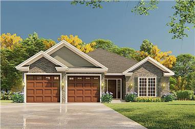 3-Bedroom, 1516 Sq Ft Ranch Home - Plan #153-2097 - Main Exterior