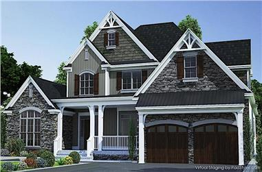 3-Bedroom, 2683 Sq Ft Farmhouse House - Plan #153-2098 - Front Exterior