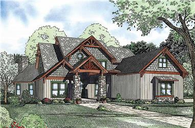 4-Bedroom, 2883 Sq Ft Rustic House - Plan #153-2099 - Front Exterior