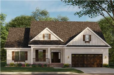 3-Bedroom, 1723 Sq Ft Traditional House - Plan #153-2100 - Front Exterior