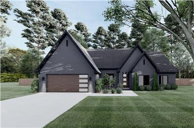 4-Bedroom, 2509 Sq Ft European Home - Plan #153-2101 - Main Exterior
