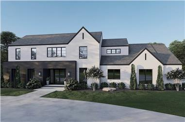 5-Bedroom, 5293 Sq Ft Contemporary Home Plan - 153-2103 - Main Exterior