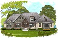 This is an artist's rendering of these Ranch House Plans.