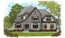 This is an artist's rendering of these Luxury Tudor Home Plans.