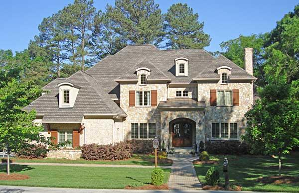 This is a color photo of these European Home Plans.