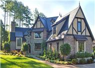 This is a color photo of these Tudor House Plans.