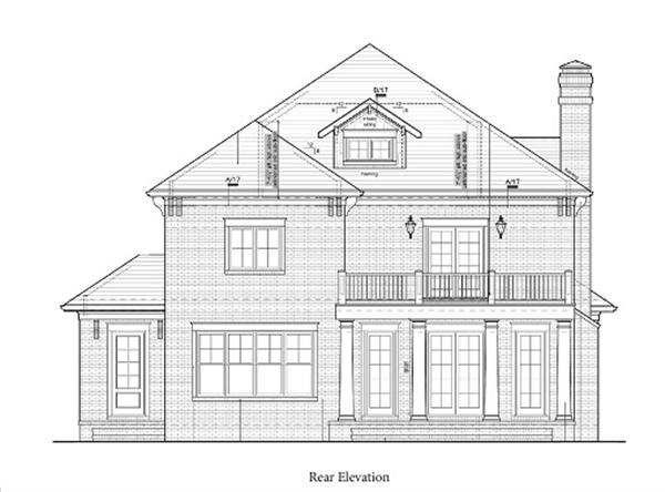 154-1045 rear elevation