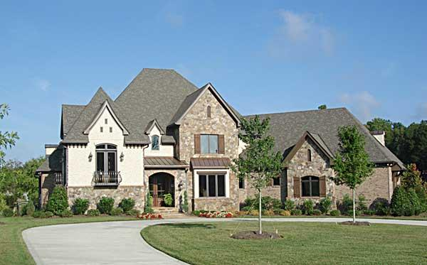 This is a color photo for these European Home Plans.