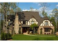 This is a color photo of these Tudor Home Plans.