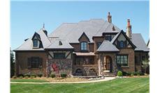 This is a color photo for these Tudor Home Plans.