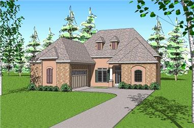 3-Bedroom, 2366 Sq Ft Ranch House Plan - 155-1000 - Front Exterior